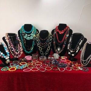 Lucite Necklaces Bracelets Lot